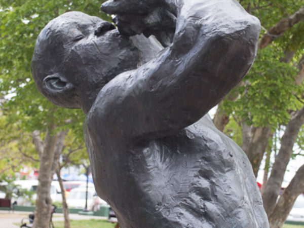 Emancipation Park Freed Slave Sculpture