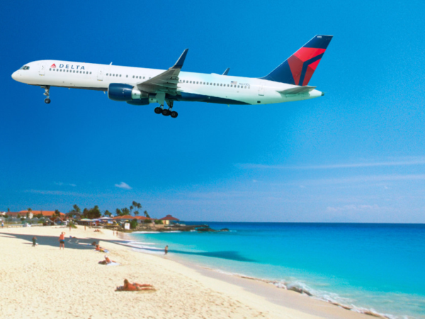 Delta Flight Touch Down