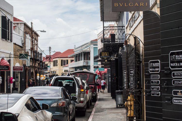 USVI Charlotte Amalie Shopping Downtown
